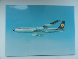 CARTE POSTALE POSTCARD LUFTHANSA BOEING 707 INTERCONTINENTAL JET - 1946-....: Moderne