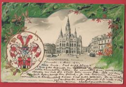 REICHENBERG : Rathaus , Carte Gaufrée De 1901 , Recto Verso . - Autriche