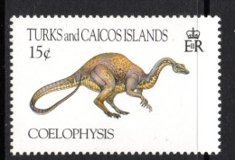 Turks & Caicos Islands 1993 Prehistoric Animals - 15c Coelophysis MNH - Turks & Caicos