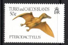 Turks & Caicos Islands 1993 Prehistoric Animals - 50c Pterodactylus MNH - Turks & Caicos