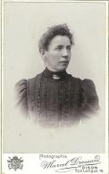 Foto Op Hard Karton Photo (6,5 X 10,5 Cm) Portretfoto Vrouw Femme Dison (Marcel Drossard) - Dison