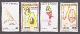Mexico 1981 Mi 1747-1750 Flora And Fauna / Birds / Vögel **/ MNH - Passereaux