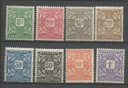 MAURITANIE TAXE  N°  17 à 24 NEUF* CHARNIERE   / MH - Unused Stamps