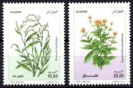 ALGERIA 2016 2 TP MNH** medicinal plants plantes medicinales Flora Flore Heilpflanzen plantas geneeskrachtige planten