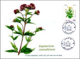 ALGERIA 2016 FDC medicinal plants plantes medicinales Flora Flore Heilpflanzen plantas Eupatorium cannabinum