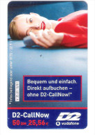 Germany - D2 Vodafone - Call Now Card - Girl On Phone - V35.01 - Date 10/03