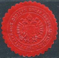 Austria-Hungary Österreich-Ungarn PIRÄUS-ATHEN Piraeus-Athens Greece CONSULAT Consular Letter Seal Siegelmarke Vignette - Austria