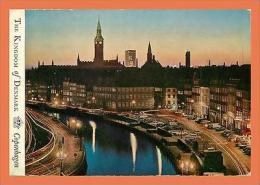 A491 / 625  DANEMARK Copenhague Old Strand By Night ( Voitures ) - Cartes Postales