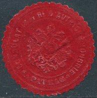 Austria-Hungary Autriche-Hongrie PATRAS Greece Griechenland CONSULAT Consular Letter Seal Siegelmarke Vignette - Austria