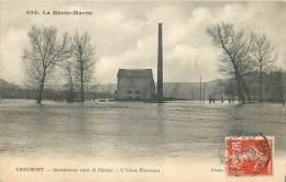 52 - Série La Haute-Marne - CHAUMONT - Inondations 1910 - L'Usine Electrique - Chaumont