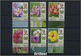 MALAYSIA PERLIS 2007 Satz postfrisch BLUMEN (81731)