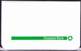 Deutschland Germany Allemagne - Dresdner Bank Scheckmappe (siehe Beschreibung) - Cheques & Traveler's Cheques