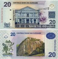 SURINAME       20 Dollar       P-159        1.1.2004         UNC - Suriname