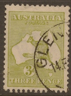 AUSTRALIA 1913 3d Olive Roo SG 5 U #RL15 - 1913-48 Kangaroos