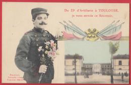 23 ème D' Artillerie De Toulouse , Souvenir , Fleurs , Artilleur ; Labouche . - Toulouse