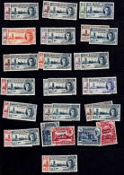 F0114 1946, 19 @ British Commonwealth Victory Sets, Mounted Mint, All Different - Stamps