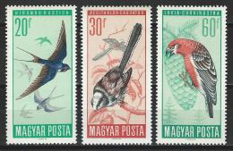 Ungarn 1966, Mi 2231-36 ** MNH - Uccelli