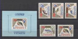 Yemen Birds Pajaros Oiseaux Vögel 1965 Mi#148-152 Bl#18 MNH - Andere
