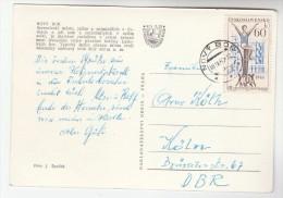 1971  CZECHOSLOVAKIA COVER Stamps 60h Sport  (postcard NOVY BOR) - Czechoslovakia