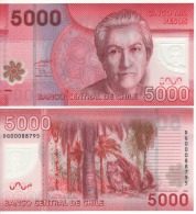 CHILE  New  5'000  Pesos ,   Polimer Issue     P163a     2009   UNC - Chile