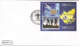 2007 Kosovo   Mi. Bl 6 FDC   Europa: Pfadfinder. - 2007