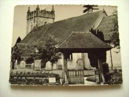 THE PARISH CHURCH HEADLEY    ENGLAND  INGHILTERRA   REGNO UNITO     CIRCULE'  STAMPS REMOVED - Inghilterra