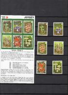 JERSEY 2059 - notice de la poste et s�rie  champignons   **
