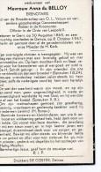 Léon Blanchaert Wed Du Belloy Erenotaris °Gent 1865 +8/10/1947 Deinze NOTARIS - Overlijden