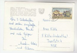 1968  CZECHOSLOVAKIA COVER Stamps 60h HORSE MAIL COACH   (postcard Cheb) - Czechoslovakia