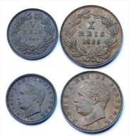 5 Reis 1885 + 10 Reis 1885. Portugal. Luiz I°. Bronze. Qualité! - Portugal