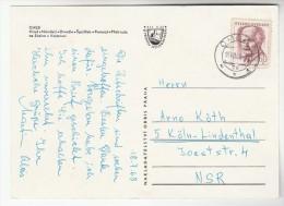 1968CZECHOSLOVAKIA COVER Stamps 60h   (postcard Cheb) - Czechoslovakia