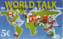 GREECE - World Talk Prepaid Card 5 Euro, Used - Greece