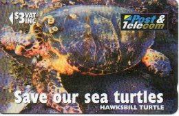 Tortue Tortoise Turtle Télécarte Fidji Phonecard  Telefonkarten B 265 - Fidji