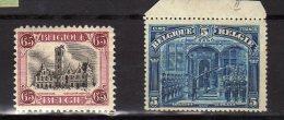 """Belgique (1915)  - """"Deux Timbres """" Neufs* - 1915-1920 Albert I."""
