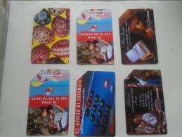 Phonecards  Italia   6 Pcs    - D137278 - Tarjetas Telefónicas