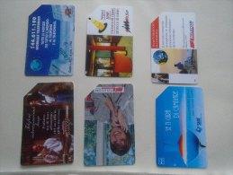 Phonecards  Italia   6 Pcs    - D137279 - Télécartes