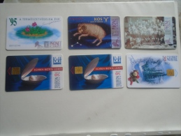 Phonecards   HUNGARY    6 Pcs    - D137282 - Télécartes