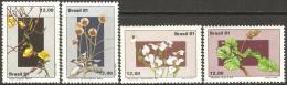 Br�sil - 1981 - Fleurs du plateau central br�silien � YT 1496 � 1499 neufs sans charni�re - MNH