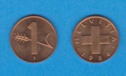 SUIZA  1  RAPPEN  1.986   Bronce   KM#46   SC/UNC     DL-11.606 - Suiza