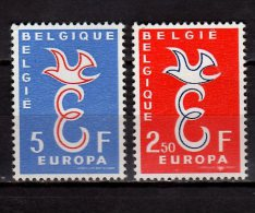 CEPT 1958 -Belgium / Belgique - Set Of 2 V Paper - MI 1117/1118 -paper MNH** - 1958