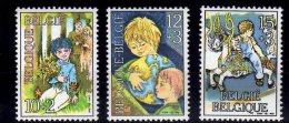 1984 Belgium -Kids - 3 V Paper  - MNH** Mi 2203/2005 - Ongebruikt