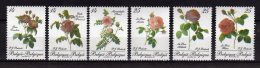 1990 Belgium - Roses IV - set of  of 6 v  -Mi 2422 /2427 - paper - MNH**