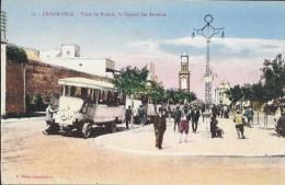 Casablanca - Place De France, La Station Des Autobus - Casablanca