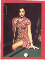 JEMME FEMME AU BILLARD CARTE EN SUPERBE ETAT PUBLICITE KOOKAI 1992 - Pin-Ups