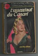 L´assassinat Du Canari  -  S.S.Van Dine  -  Ed 1953 - Livres, BD, Revues