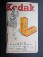 POCHETTE PHOTO (M1505) KODAK (2 Vues) V. BEYENS De Paris CHARLEROI Rue De Dampremy, 5 * Photo Papier VELOX E - Photographie
