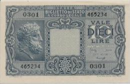 ITALY  P. 32c 10 L 1944 AUNC - [ 1] …-1946 : Koninkrijk