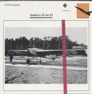 Vliegtuigen.- Junkers J1 Tot J3 - Jachtvliegtuigen. -  Duitsland - Vliegtuigen