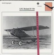 Vliegtuigen.- LFG Roland D-VIb - Jachtvliegtuigen. -  Duitsland - Vliegtuigen