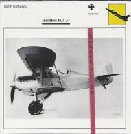 Vliegtuigen.- Heinkel HD 37 - Jachtvliegtuigen. -  Duitsland - Vliegtuigen